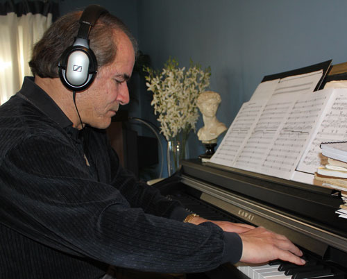 Paul Davies at the piano